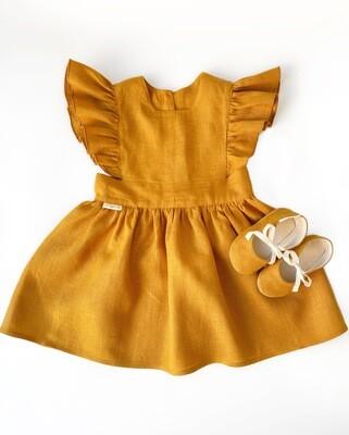 Платье Полли горчичное