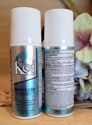 KOI PAIN RELIEVING ROLL ON GEL 500 MG CBD
