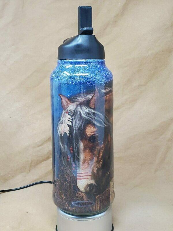 32 Oz Native Horse Water Bottle
