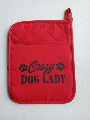 Crazy Dog Lady Red/Bl