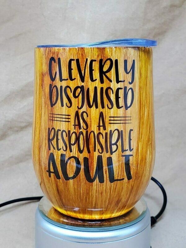 Responsible Adult Wine Tumbler