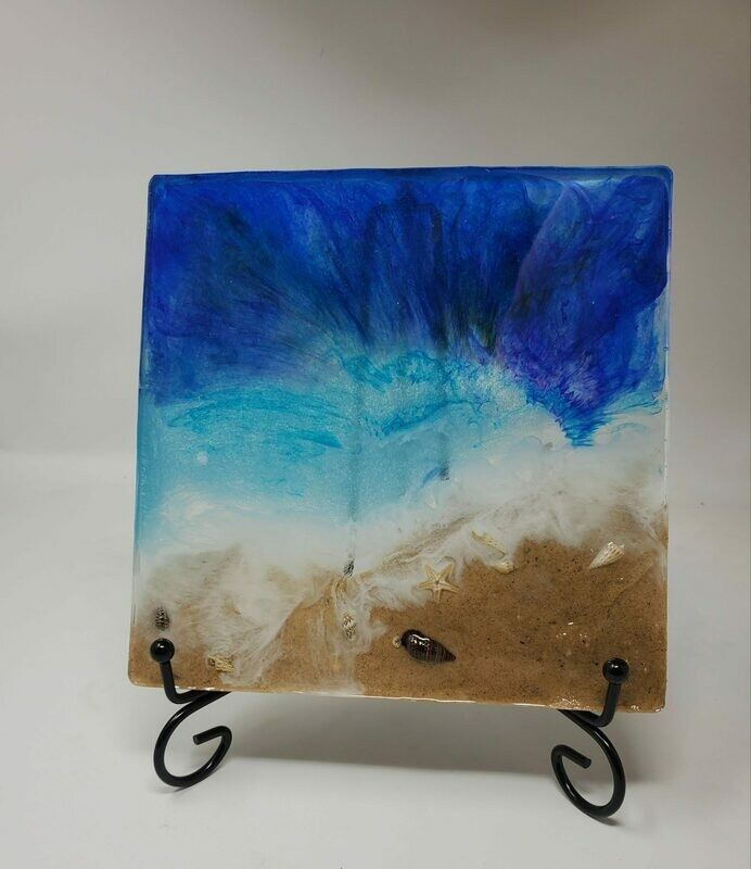 Beach Theme LG Square Coaster