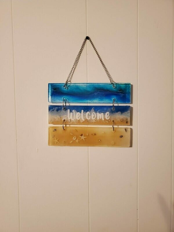 3 Tier Welcome Beach Sign