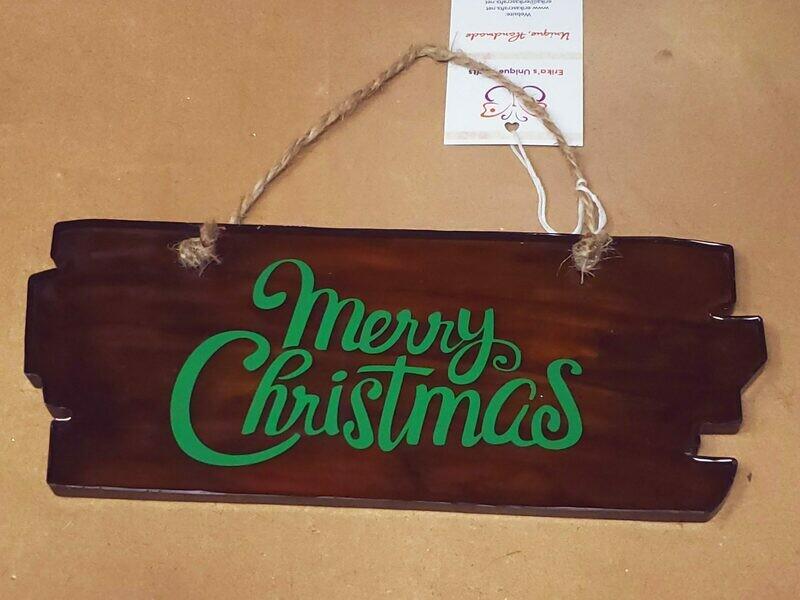 Epoxy Wood Look Christmas Sign