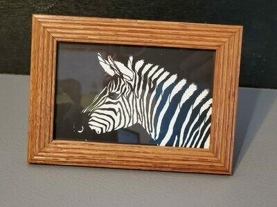 4x6 Zebra paper cutout