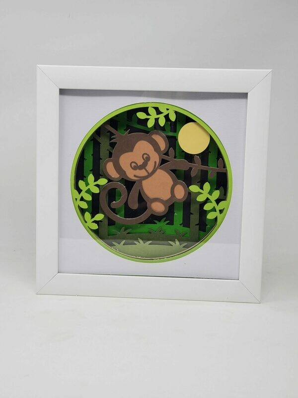8x8 Monkey 3D Shadowbox
