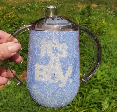 It's Twins Gender Reveal Sippy Cup