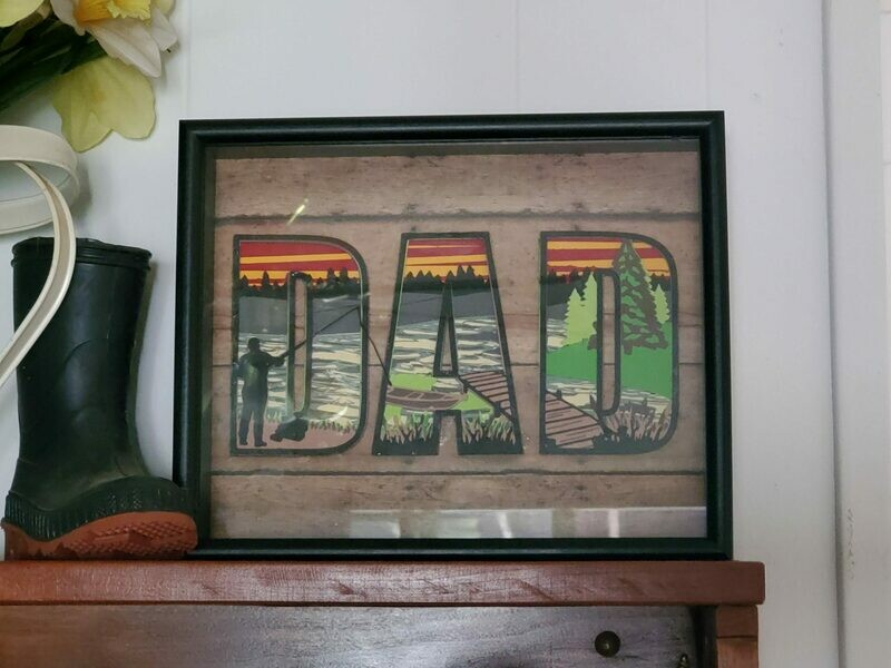 8x10 3D Dad Fishing Shadowbox