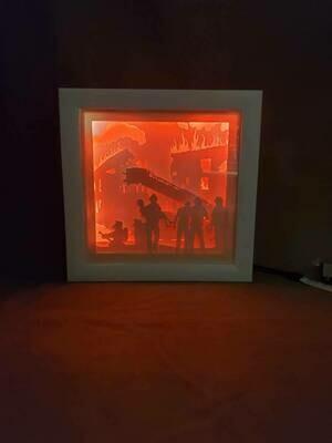 8x8 Firemen Shadowbox