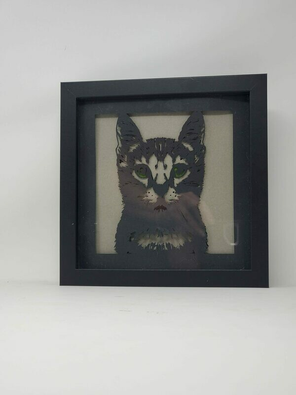 3D Cat Shadowbox