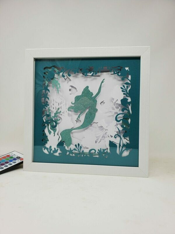 9x9 Mermaid Shadowbox
