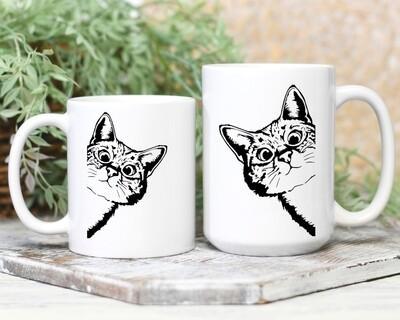 Peaking Cat Mug
