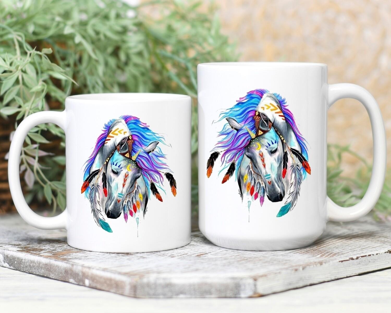 Watercolor War Horse