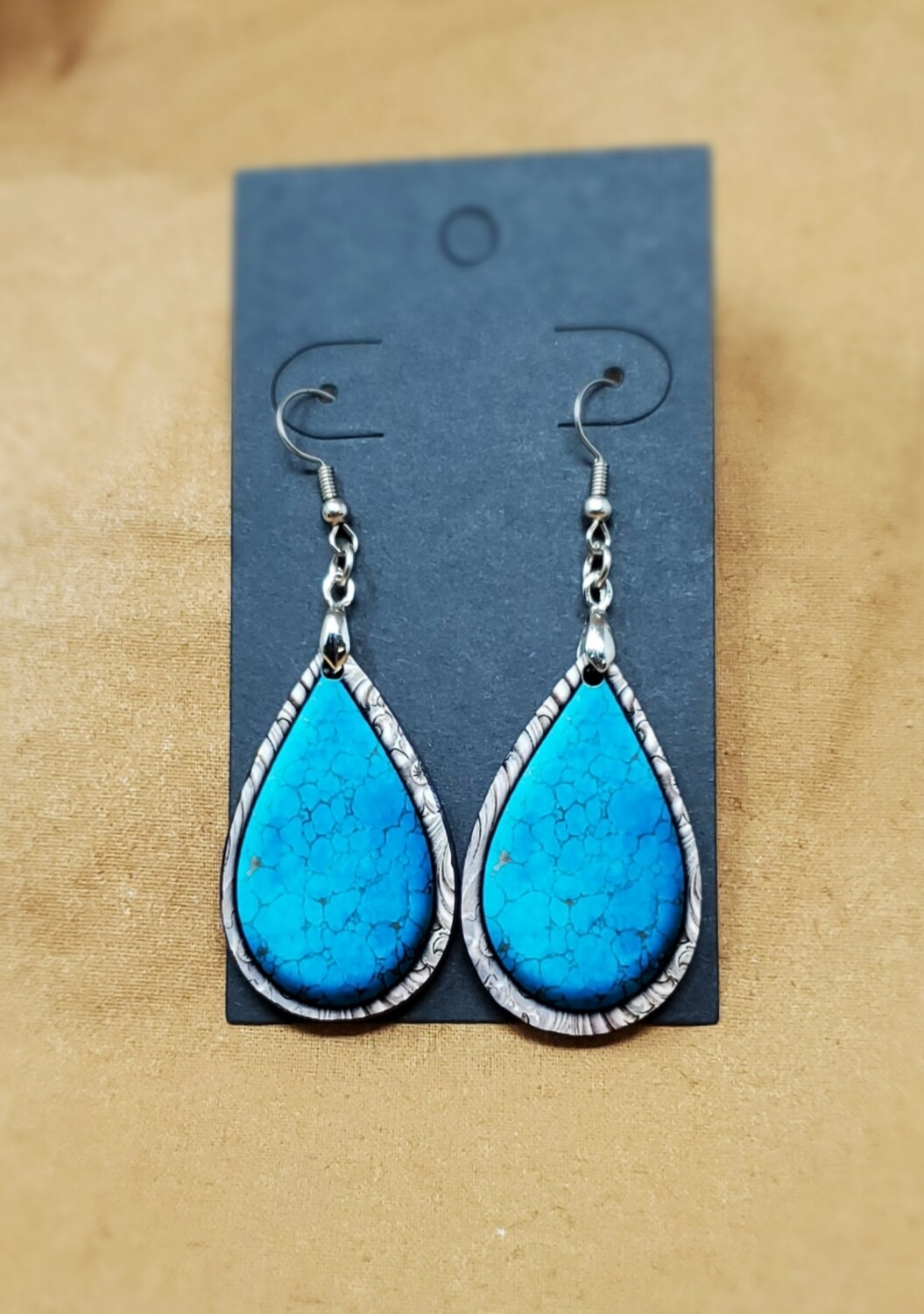 Turquoise Small Teardrop