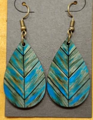Wood wash leaf small teardrop