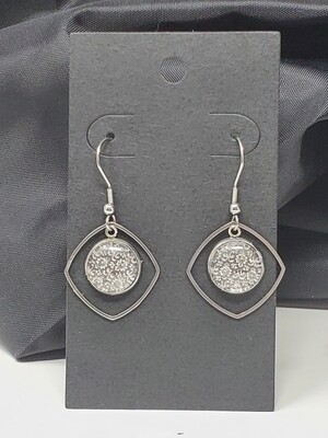 Floral Cabochon Earrings