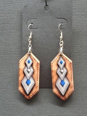 Double Diamond blue stone/leather