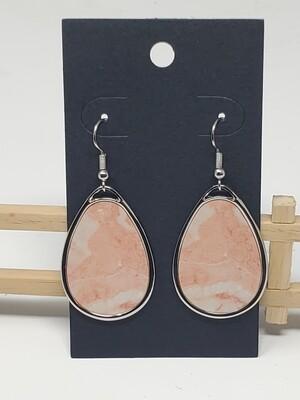 Teardrop Metal Peach Marble