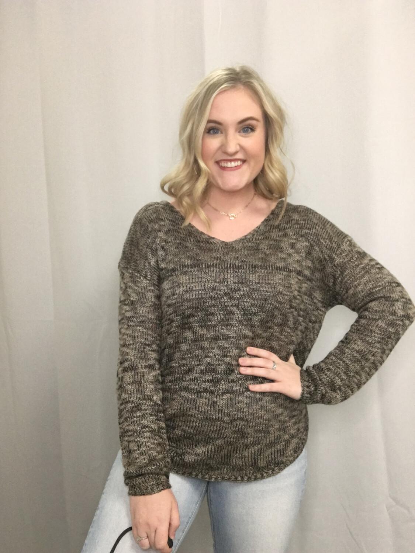 RDI Black & Tan Knit Sweater - L