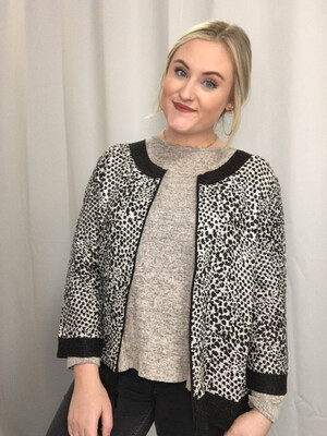 Travelers Collection By Chico's - Animal Print Zip Jacket - Size 1