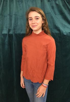 Roolee Orange Embroidered Top - XXS