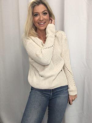 Gap Cream Knit Sweater - S