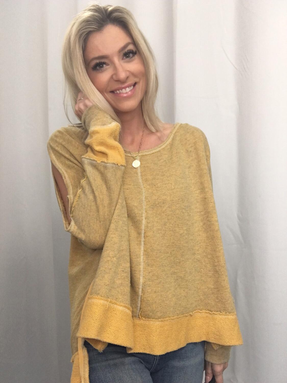 Free People Mustard Sweatshirt - S