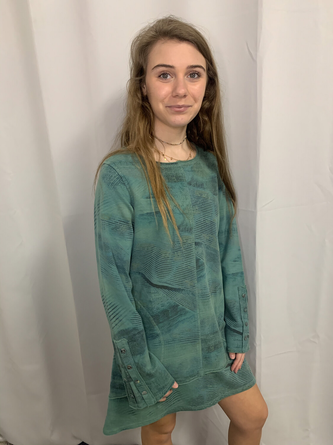 C.M.C. Green Patterned Pullover - XS