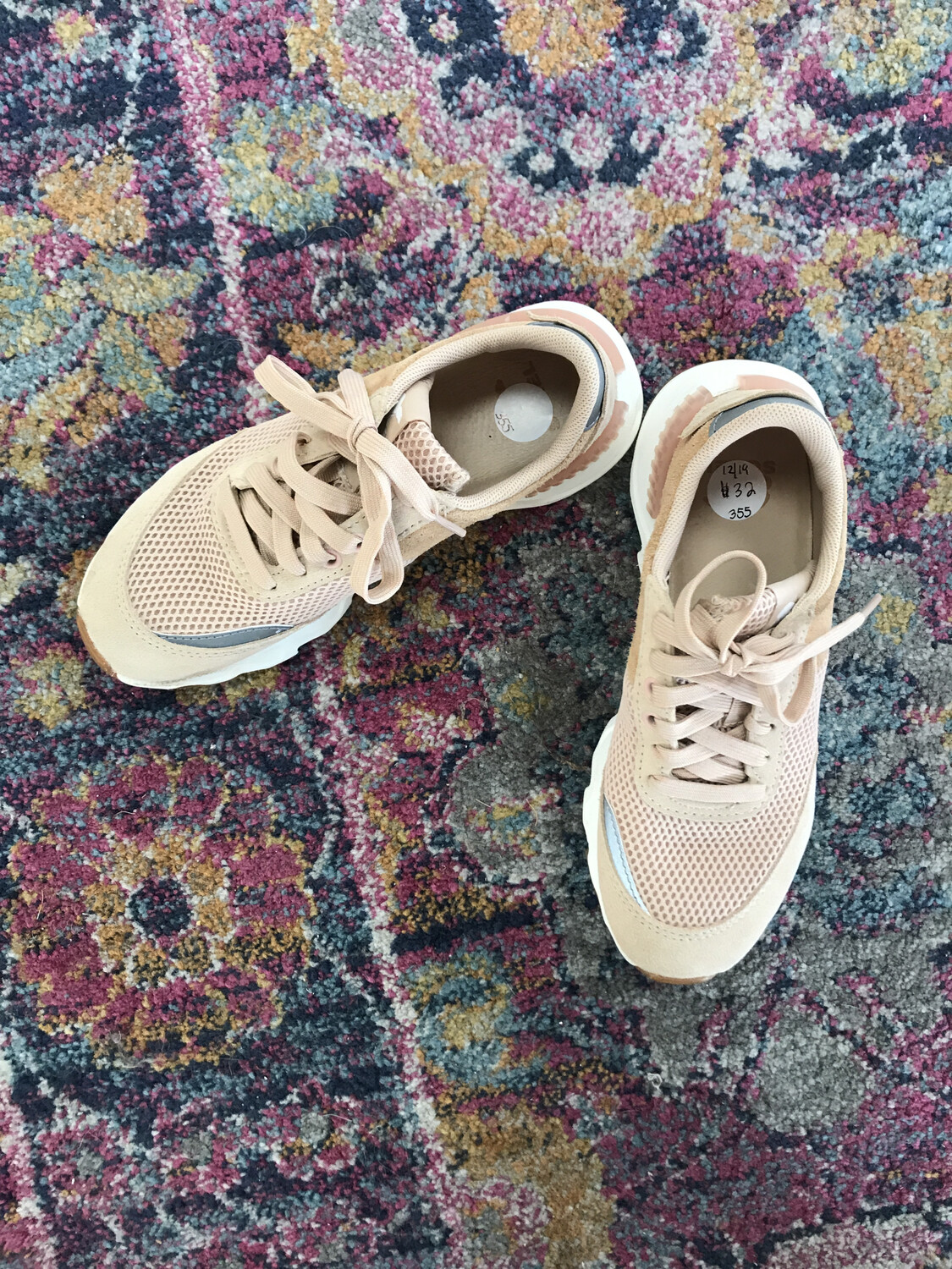 Sorel Blush Pink Tennis Shoes - Size 6