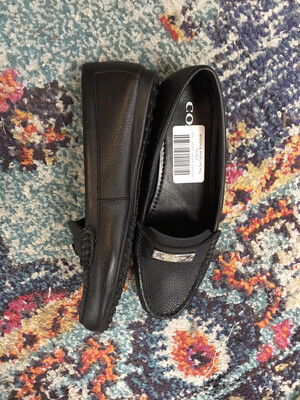 Coach Black & Silver Loafers - Size 7