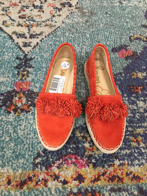 Sam Edelman Red Loafers - Size 8
