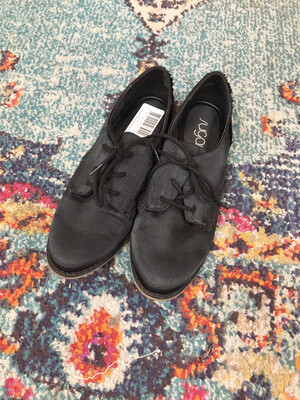Sugar Black Lace Up Shoes - Size 8