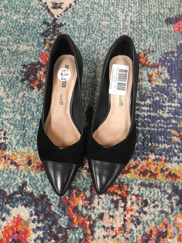Clarks Black Heels - Size 7.5