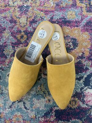 Ccocci - Mustard Yellow Slip Ons - Size 6
