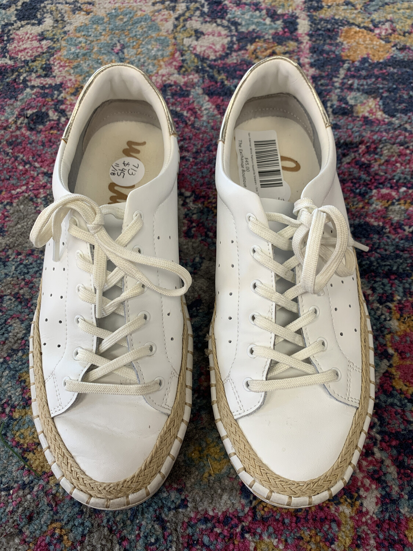 Sam Edelman White Platform Espadrille Sneakers - Size 7.5