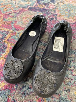 Tory Burch Black Flats - Size 8.5