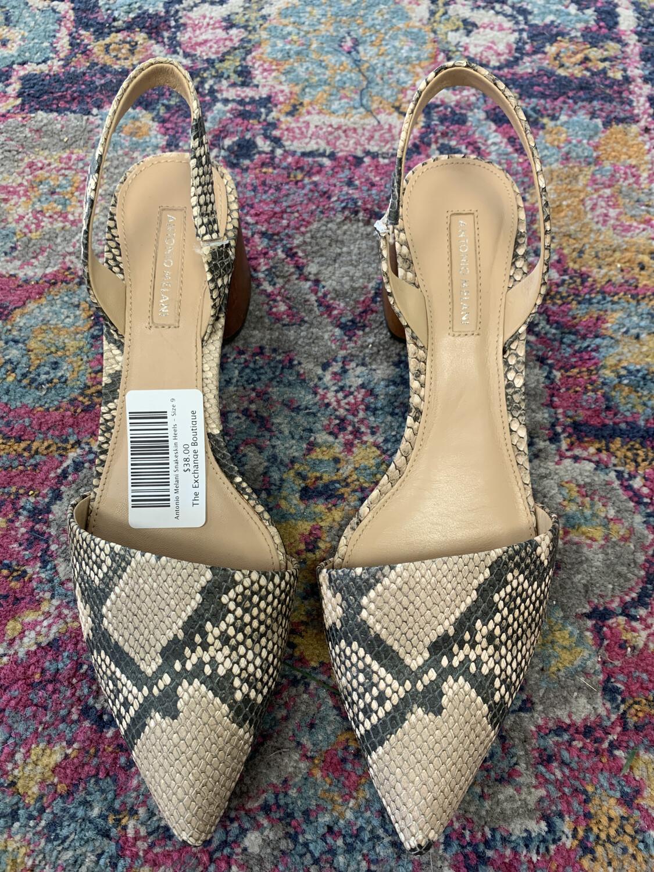 Antonio Melani Snakeskin Heels - Size 9
