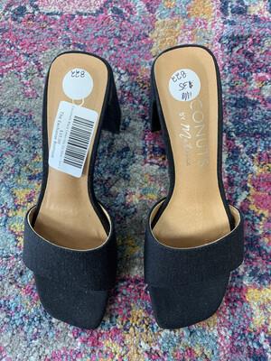 Coconuts Black Linen Slip On Shoe - Size 6