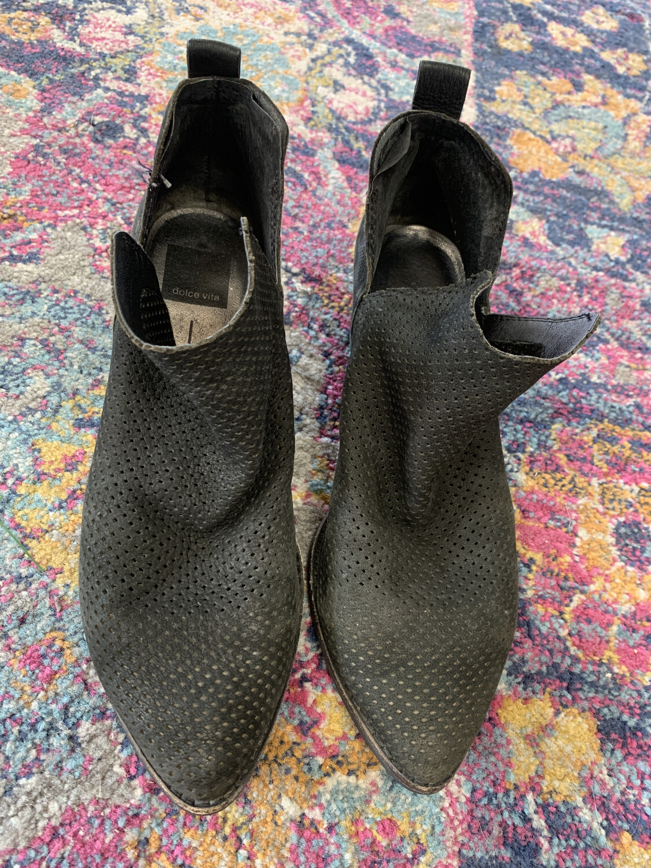 Dolce Vita Black Booties - Size 8