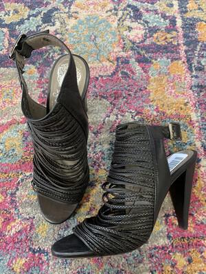 Vince Camuto Black Peep Toe Heels - Size 8.5