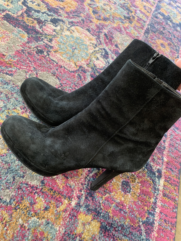 Michael - Black Stick Heel Booties - Size 8