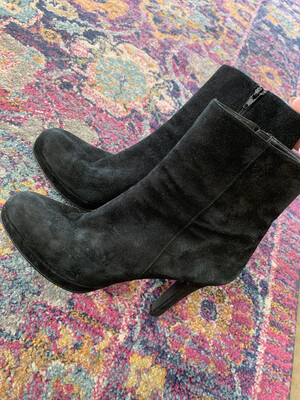 Michael - Black Stick Heel Booties - Size 8