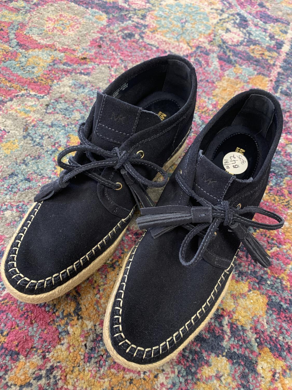 Michael Kors Navy Suede Espadrille Shoes - Size 9