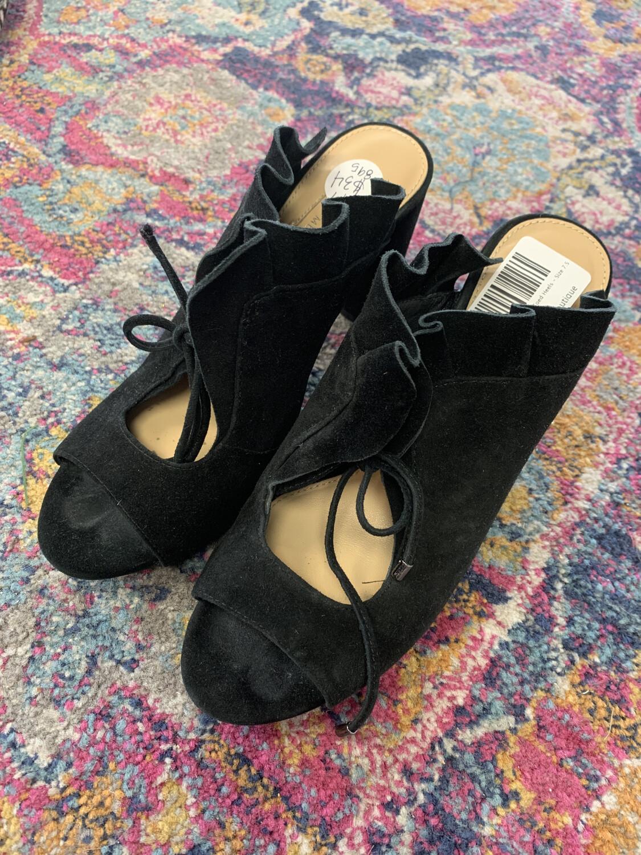 Antonio Melani Black Open Toed Heels - Size 7.5