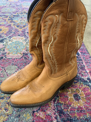 Laredo Brown Cowgirl Boots - Size 7.5