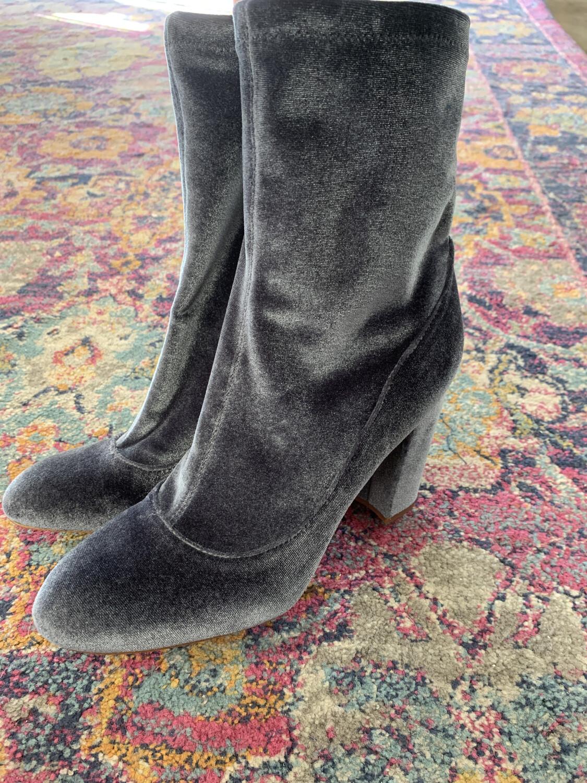 Sam Edelman Blue Velvet Booties - Size 10