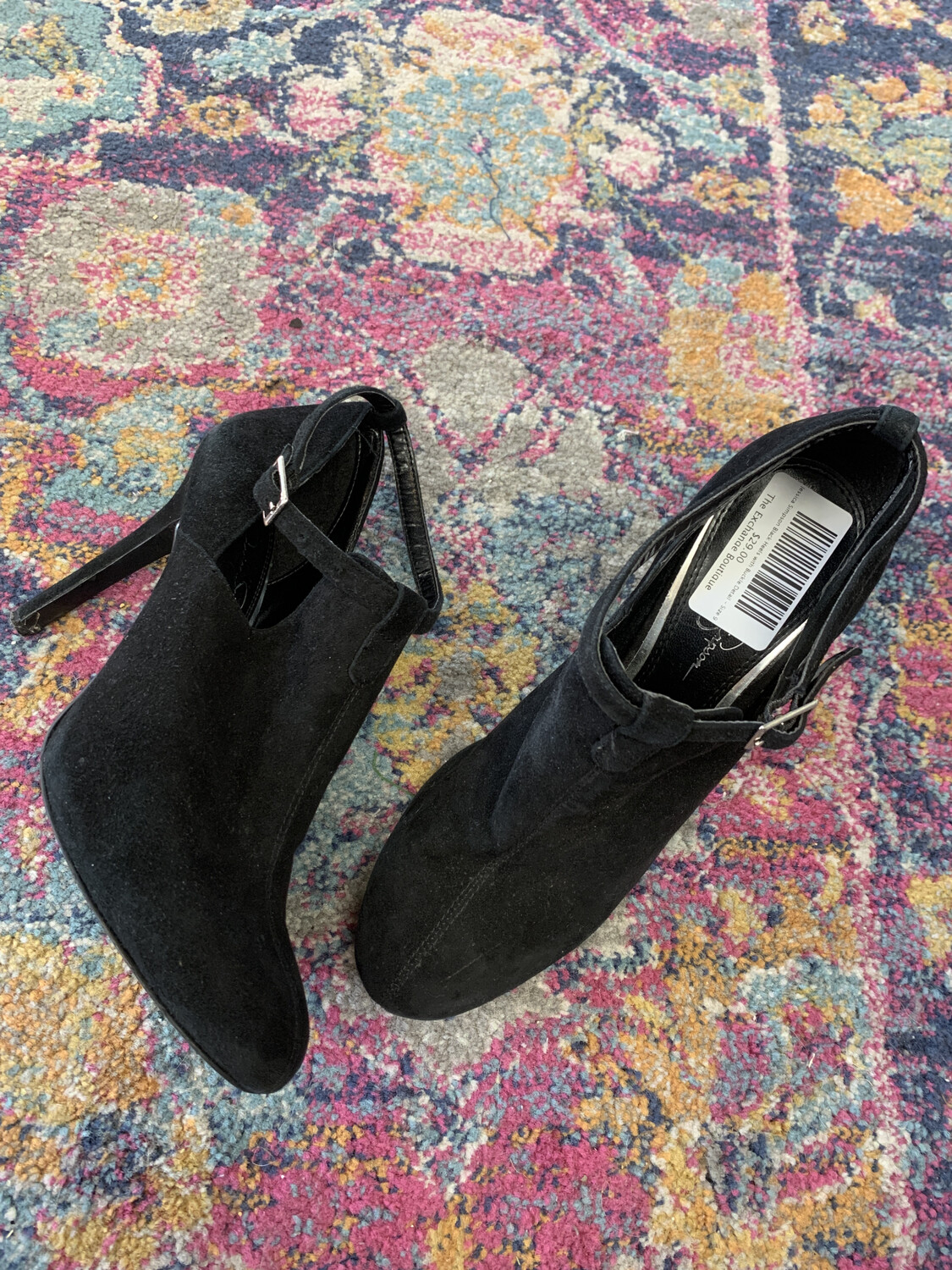 Jessica Simpson Black Heels with Buckle Detail - Size 9