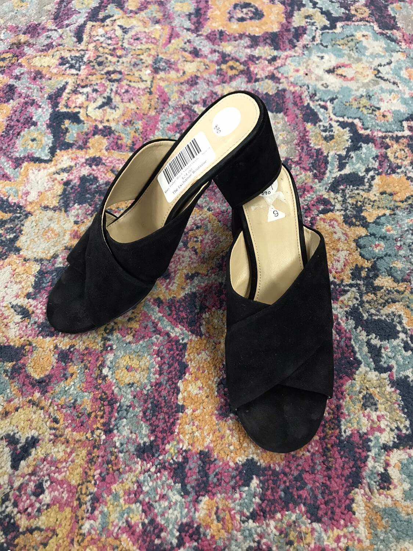 Marc Fisher Black Sandal Heels - Size 9