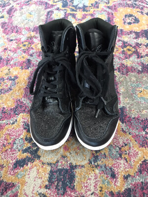Pastry Run Athletics Black Glitter Hightops - Size 8