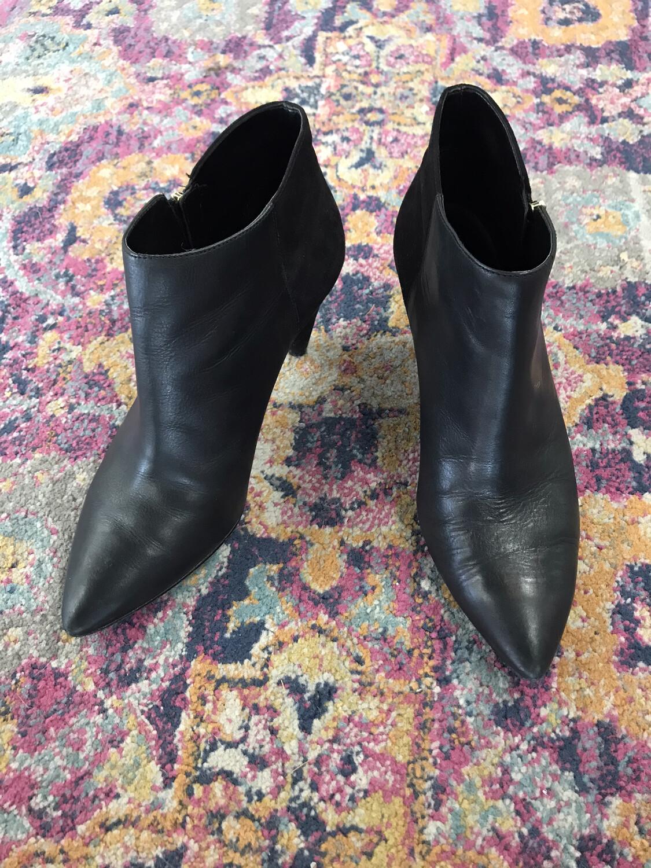 Nine West Black Heel Booties - Size 8.5